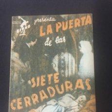 Cine: LA PUERTA DE LAS SIETE CERRADURAS - PROGRAMA DOBLE - REVERSO TEATRO CALDERÓN (ALCOY). Lote 226097220