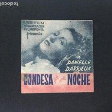Cine: CONDESA POR UNA NOCHE - PROGRAMA DOBLE - REVERSO CINE IDEAL GASCÓ OLIVA. Lote 226304730