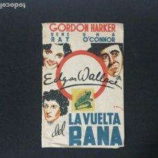 Cine: LA VUELTA DEL RANA - PROGRAMA DOBLE - REVERSO TEATRO CIRCO ALCOY. Lote 226305855
