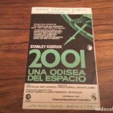 Folhetos de mão de filmes antigos de cinema: PEGATINA PUBLICITARA PELICULA 2001 UNA ODISEA DEL ESPACIO TEATRO FLETA ZARAGOZA 1978.GUERRA GALAXIAS. Lote 226354845