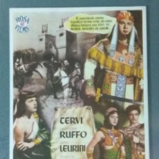Cine: LA REINA DE SABA. PROGRAMA SENCILLO GRANDE.. Lote 226382750