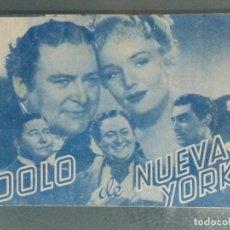 Cine: IDOLO DE NUEVA YORK. PROGRAMA DE CINE DOBLE.. Lote 226383810