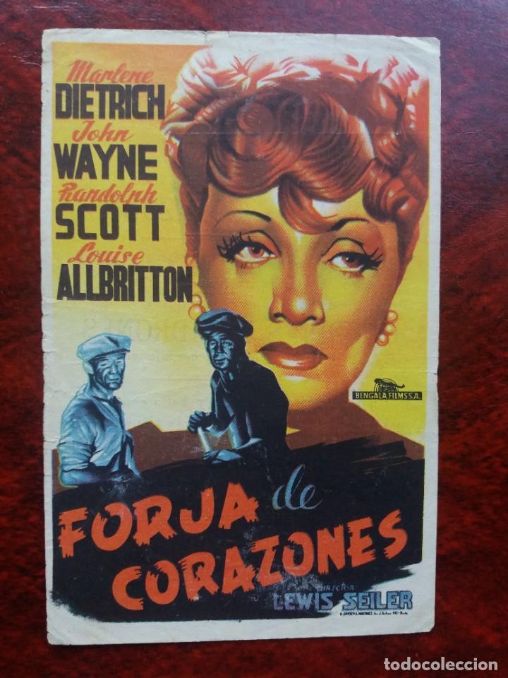 FORJA DE CORAZONES CON PUBLICIDAD GRAN CINEMA LICEO RUTE (Cine - Folletos de Mano - Drama)