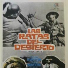Flyers Publicitaires de films Anciens: LAS RATAS DEL DESIERTO. Lote 226626010