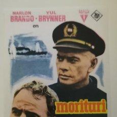 Flyers Publicitaires de films Anciens: MORITURI. Lote 226628115