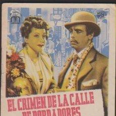 Cine: FOLLETO MANO CINE CON PUBLICIDAD EL CRIMEN DE LA CALLE DE BORDADORES - LUNA DELGADO PLANA LAJOS. Lote 226689445