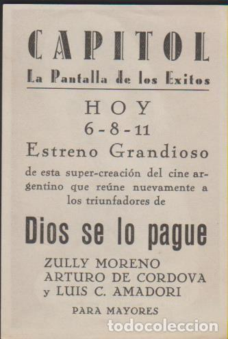 Cine: folleto mano cine con publicidad NACHA REGULES - CORDOVA MORENO AMADORI - Foto 2 - 226690475
