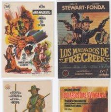 Cine: LOTE DE 4 PROGRAMAS DE CINE DEL GENERO WESTERNS. S/C. Lote 226893229