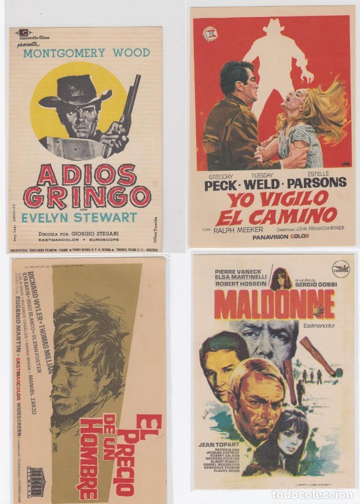 LOTE DE 4 PROGRAMAS DE CINE DEL GENERO WESTERNS. S/C (Cine - Folletos de Mano - Westerns)
