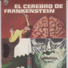 Cine: PROGRAMA DE CINE EL CEREBRO DE FRANKENSTEIN AÑO 1970. S/C. Lote 226895415