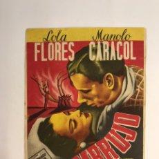 Cine: CANALS FOLLETO DE MANO EMBRUJO, LOLA FLORES Y MANOLO CARACOL. CINE DE VERANO (A.1947). Lote 227082445