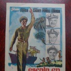 Folhetos de mão de filmes antigos de cinema: ESCALA EN HAWAI. Lote 227573920