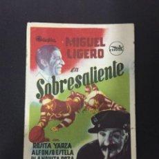 Cine: SOBRESALIENTE - PROGRAMA SENCILLO - REVERSO MONUMENTAL. Lote 227593495
