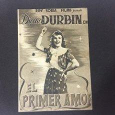 Cine: EL PRIMER AMOR - PROGRAMA DOBLE - REVERSO TEATRO CALDERÓN. Lote 227593930