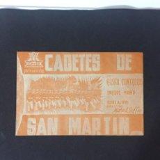 Foglietti di film di film antichi di cinema: CADETES DE SAN MARTÍN - PROGRAMA DOBLE - REVERSO TEATRO PRINCIPAL. Lote 227595135