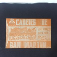 Flyers Publicitaires de films Anciens: CADETES DE SAN MARTÍN - PROGRAMA DOBLE - REVERSO TEATRO PRINCIPAL. Lote 227595135