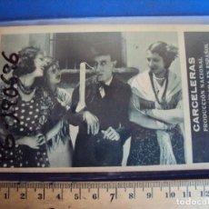 Cine: (PG-190696)PROGRAMA TARJETA *CARCELERAS* RAQUEL RODRIGO JOSE LUIS LLORENT-CINE MANON. Lote 227666150