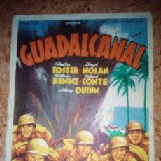 Cine: PROGRAMA DE CINE.FOLLETO DE MANO.GUADALCANAL.SENCILLO CON PUBLICIDAD. Lote 227739825
