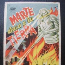 Folhetos de mão de filmes antigos de cinema: MARTE ATACA A LA TIERRA, BUSTER GRABBE, , CINE MODERNO. Lote 227754842