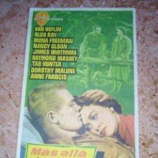 Cine: PROGRAMA DE CINE.FOLLETO DE MANO.MAS ALLA DE LAS LAGRIMOS.SENCILLO CON PUBLICIDAD. Lote 227818485