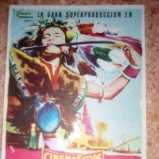 Cine: PROGRAMA DE CINE.FOLLETO DE MANO.CONTINENTE PERDIDO.SENCILLO SIN PUBLICIDAD. Lote 227879785