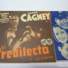 Folhetos de mão de filmes antigos de cinema: PROGRAMA DE CINE . EL PREDILECTO. Lote 227979897