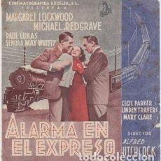 Cine: ALARMA EN EL EXPRESO (CON PUBLICIDAD). Lote 228055465