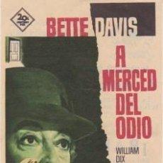 Cine: A MERCED DEL ODIO (CON PUBLICIDAD). Lote 228056080