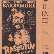 Cine: RASPUTIN Y LA ZARINA (CON PUBLICIDAD). Lote 228056405