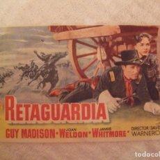 Cine: RETAGUARDIA - SENCILLO CON PUBLICIDAD JARDINES CINEMA MERY LA UNION - PERFECTO. Lote 228197870