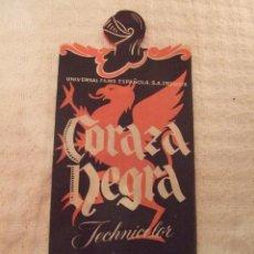 Cine: CORAZA NEGRA - DOBLE TROQUELADO SIN PUBLICIDAD - PERFECTO. Lote 228198785
