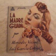 Cine: LA MADRE GUAPA - DOBLE TROQUELADO CON PUBLICIDAD CINE CENTRO BARCELONA - PERFECTO. Lote 228200300