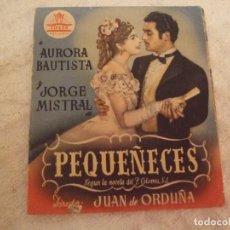 Cine: PEQUEÑECES - DOBLE CON PUBLICIDAD CINEMA SALA BENEJUZAR - PERFECTO. Lote 228200850