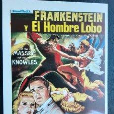 Foglietti di film di film antichi di cinema: FRANKENSTEIN Y EL HOMBRE LOBO, BELA LUGOSI, LON CHANEY, SENCILLO IMPRESO EN LOS AÑOS 80. Lote 228210180