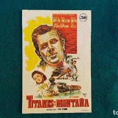 Flyers Publicitaires de films Anciens: PROGRAMA DE MANO CINE TITANES DE LA MONTAÑA (1961) CON CINE AL DORSO. Lote 228211815