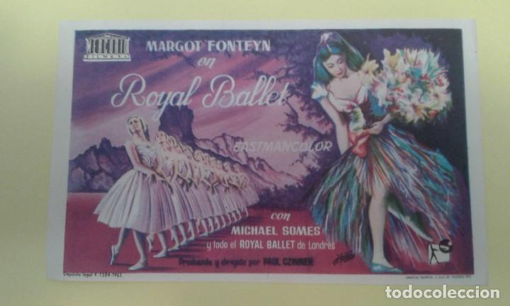 ROYAL BALLET MARGOT FONTEYN FOLLETO ORIGINAL BUEN ESTADO S.P. (Cine - Folletos de Mano - Musicales)