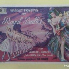 Cine: ROYAL BALLET MARGOT FONTEYN FOLLETO ORIGINAL BUEN ESTADO S.P.. Lote 228290805