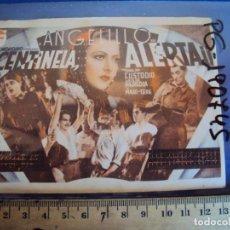 Cine: (PG-190745)PROGRAMA DE CINE TARJETA * CENTINELA ALERTA * CON ANGELILLO - CINEMA CATALUÑA. Lote 228318015