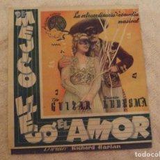 Cine: DE MEJICO LLEGO EL AMOR - DOBLE CON PUBLICIDAD GRAN TEATRO Y ESTRENO NO-DO - PERFECTO. Lote 228347685