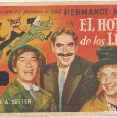 Cine: EL HOTEL DE LOS LÍOS. SENCILLO DE FILMÓFONO. CINE MARTINENSE 1945. Lote 228399285