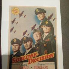 Folhetos de mão de filmes antigos de cinema: CINE. FOLLETO DE MANO ORIGINAL. SUBLIME DECISIÓN. PROPAGANDA AL DORSO. Lote 228672245
