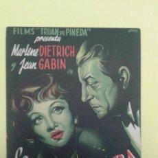 Cine: LA BELLA EXTRANJERA MARLENE DIETRICH ORIGINAL C.P. GRAN CINEMA LICEO. Lote 228698510