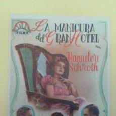 Cine: LA MANICURA DEL GRAN HOTEL HANNELORE SCHROTH PAUL HORBIGER ORIGINAL C.P. CINEMA SALAMANCA. Lote 228707010