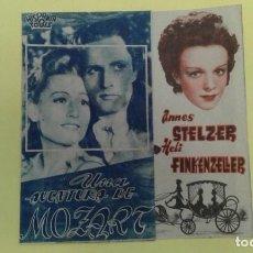 Cine: UNA AVENTURA DE MOZART ANNES STELZER HELI FINKENZELLER ORIGINAL DOBLE S.P.. Lote 228714160
