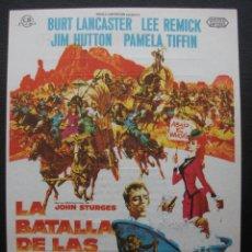 Cine: LA BATALLA DE LAS COLINAS DEL WHISKY, BURT LANCASTER, CINES BOHEMIO Y GALILEO, 1968. Lote 293865363