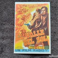 Cine: EL VALLE DEL SOL. PROGRAMA DE MANO CON PUBLICIDAD. CINEMA VICTORIA. PALAFRUGELL. JAMES CRAIG.. Lote 228775205