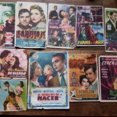 Cine: LOTE 10 PROGRAMAS CINE AÑOS 6. Lote 228865030