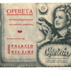 Cine: OPERETA.- DOBLE CON PUBLICIDAD PALACIO DEL CINE.. Lote 228917085