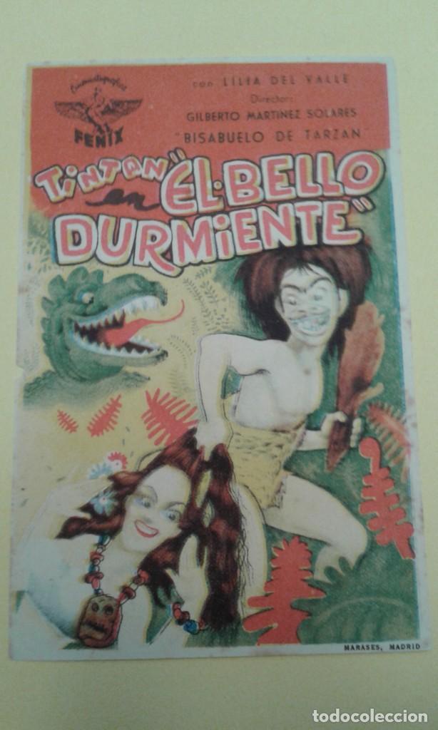 EL BELLO DURMIENTE TINTAN ORIGINAL S.P. ALGUN DEFECTO (Cine - Folletos de Mano - Comedia)