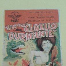Cine: EL BELLO DURMIENTE TINTAN ORIGINAL S.P. ALGUN DEFECTO. Lote 228938630